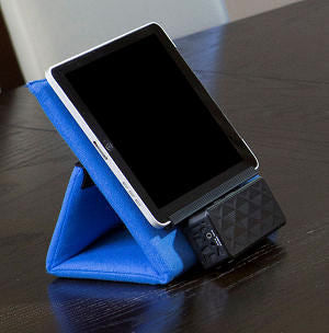 ALZO Multi-Angle Tablet Stand Lounger and Dock Cradle with Case for E-Readers and Phones with tablet and speaker