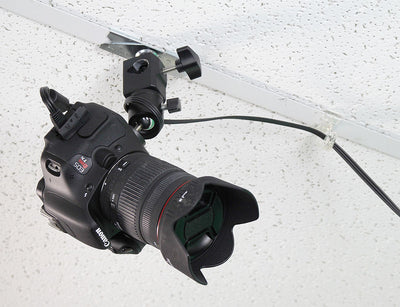 ALZO Suspended Drop Ceiling Camera Mount with DSLR camera