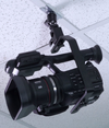 ALZO Suspended Drop Ceiling Upright Camera Mount with camcorder