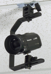ALZO Suspended Drop Ceiling Upright Camera Mount with small camcorder