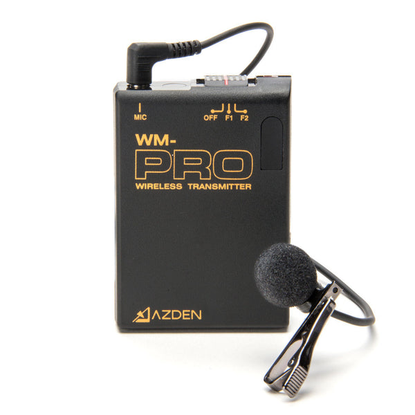 AZDEN Wireless Mono Transmitter and Lav Microphone