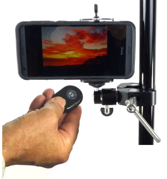 ALZO Smartphone Mount with Ball Head, Clamp and Bluetooth Shutter Release