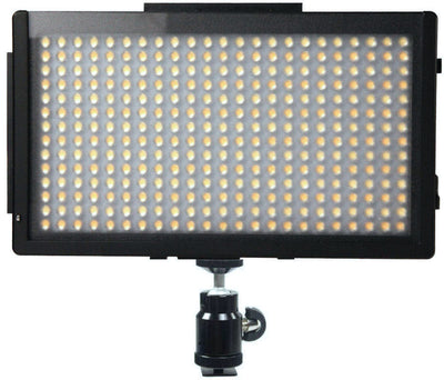 ALZO 795 Bi-Color Adjustable Extra Bright LED On-Camera Video Light Power Kit