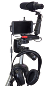 Smartphone Streaming Video Rig with COMICA CVM-V30 Shotgun Microphone and Breakout Cord with mic