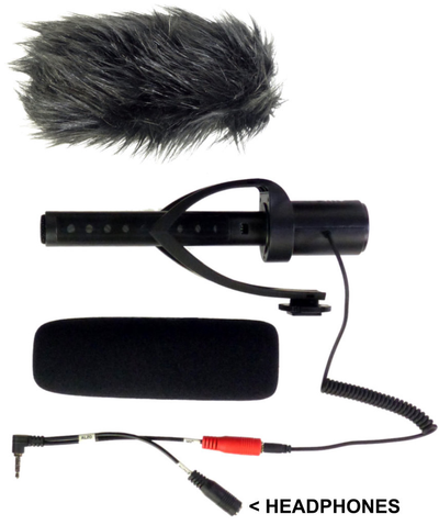 Smartphone Streaming Video Rig with COMICA CVM-V30 Shotgun Microphone and Breakout Cord microphone