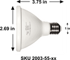 ALZO 12W Joyous Light® Dimmable LED Full Spectrum PAR30 Spot Light Bulb 5500K dimension diagram