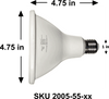 ALZO 18W Joyous Light® Dimmable LED Full Spectrum PAR38 Spot Light Bulb 5500K dimensions