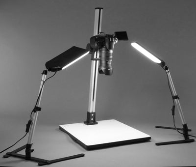 ALZO 100 LED Macro Studio Tabletop Product Photography Kit with camera