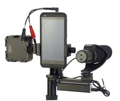 ALZO Smartphone Video Handgrip Pro Rig with Shoe Mounts, LED light and Mic