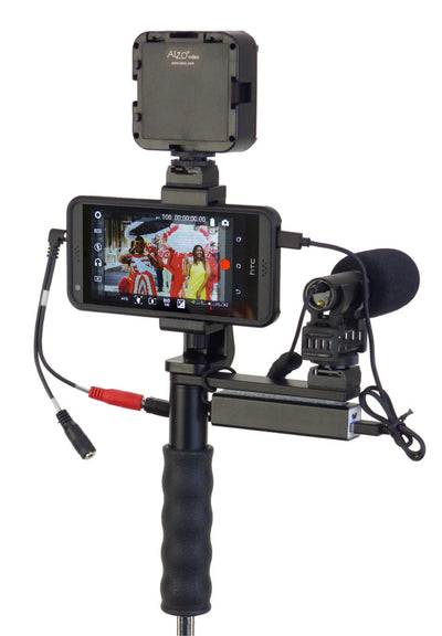 ALZO Smartphone Video Handgrip Pro Rig with Shoe Mounts and gear