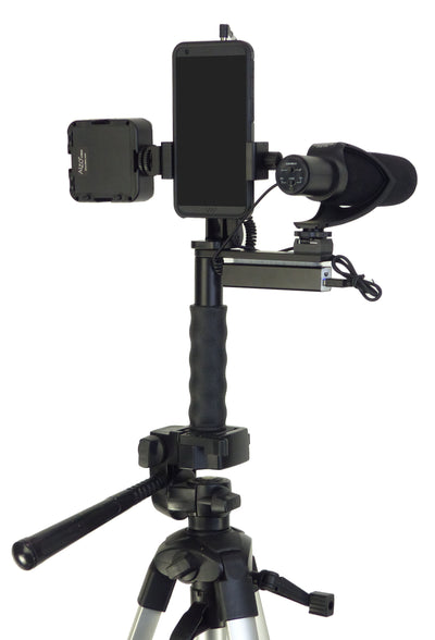 ALZO Smartphone Video Handgrip Pro Rig with Shoe Mounts on tripod