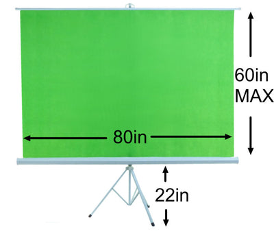 ALZO Portable Chroma Key Green Screen background with stand