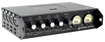 AZDEN FMX-42a 4 Channel Mixer with 10-Pin Camera Return angle