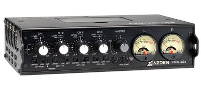 AZDEN FMX-42a 4 Channel Mixer with 10-Pin Camera Return