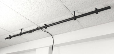 ALZO Suspended Drop Ceiling DJ, band, stage light mounting bar with 20 ft power cord