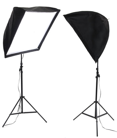ALZO 200 LED Umbrella Softbox 2 Light Kit 5500K with light stands