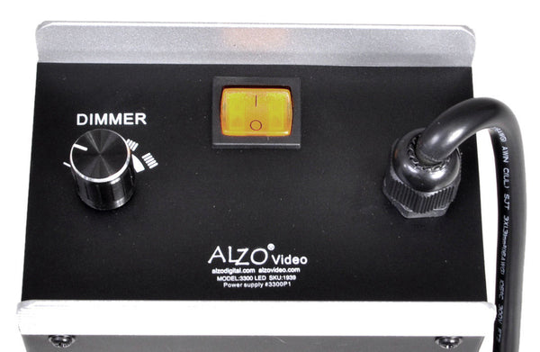 ALZO 3300 Ultra High Power 220V LED Video Light back panel