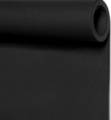 Seamless Photo Background Paper Roll Jet Black, 96 Inches Wide x 36 Feet Long
