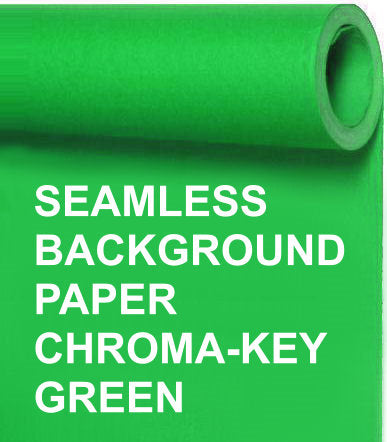 Seamless Photo Background Paper Roll Chroma Key Green, 107 Inches Wide x 36 Feet Long