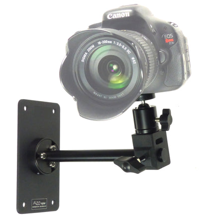 Wall Camera Mount with Ball Head and camera