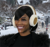 ALZO Bluetooth Earmuff Headphones Fashion Accessory Cream Caramel.