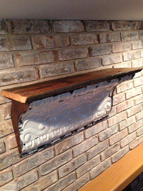 Dunworth Designs - Tin Cornice Shelf