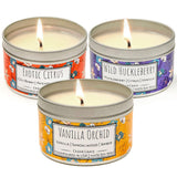 Wild Escapes | Exotic Citrus | Vanilla Orchid | Wild Huckleberry | 100% Soy Wax Candle
