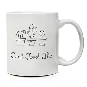 Funny Mug - Can't Touch This - Unique Present for Men & Women, Him or Her - Best Office Cup & Birthday Gag Gift for Coworkers, Mom, Dad, Kids, Son, Daughter, Husband or Wife