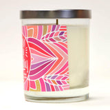 """Birthday Girl!"" Wine Glass and ""Make A Wish"" Bamboo Forest Candle Gift Set"