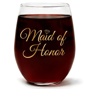 Maid Of Honor | 15oz Stemless Wine Glass