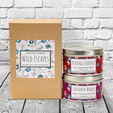 Wild Escapes | Lavender Woods | Vintage Leather | 100% Soy Wax Candle