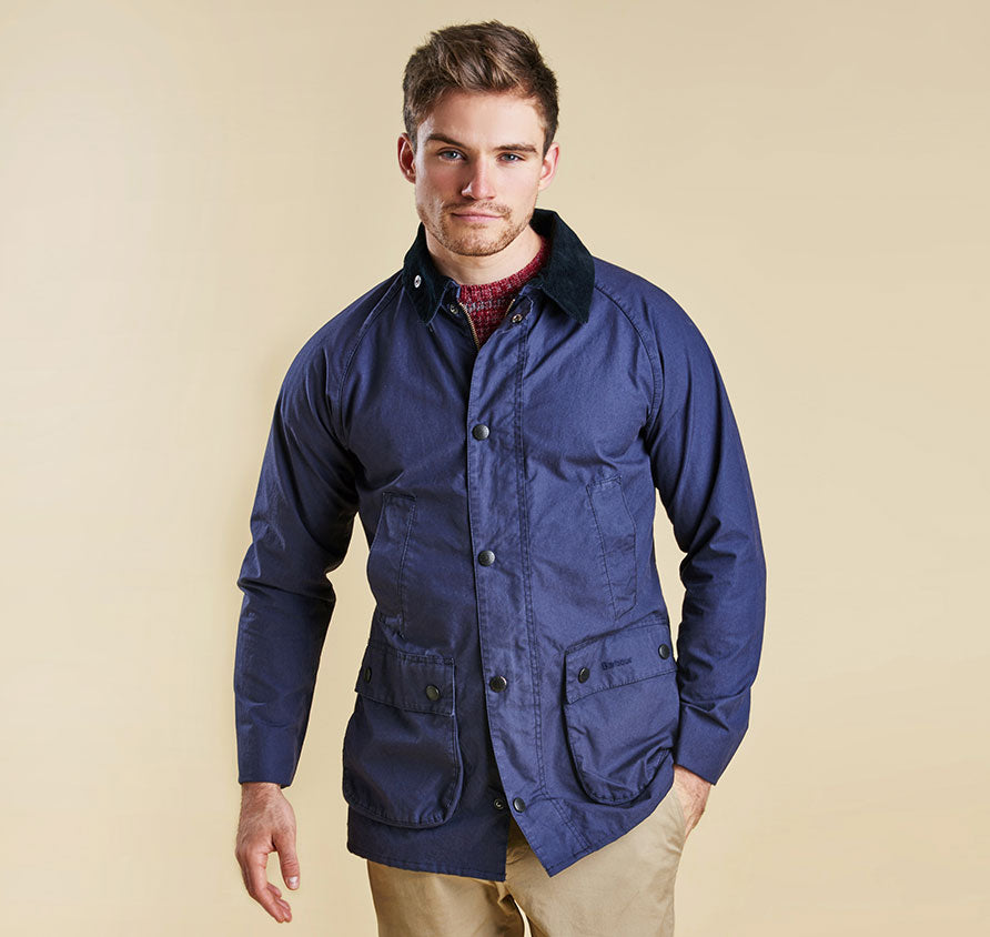 Barbour Washed Bedale - Navy
