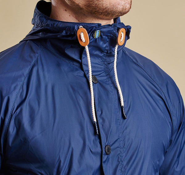 Barbour Hooded Bedale - Navy