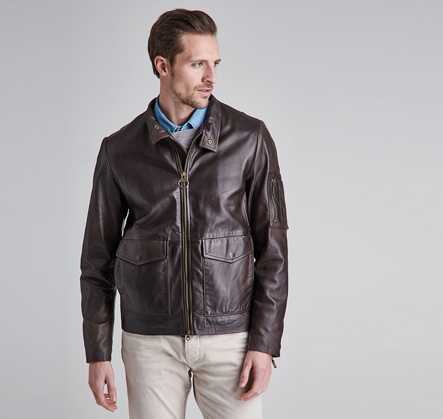 Barbour Erfurt Leather - Brown