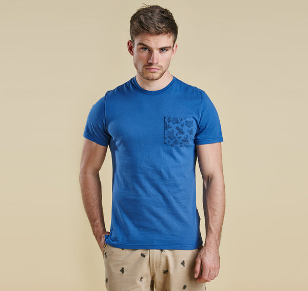 Barbour Major Tee - Oxbridge Blue