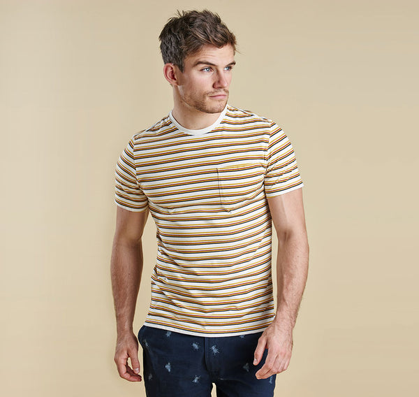 Barbour Kingston Striped Tee - Whisper White