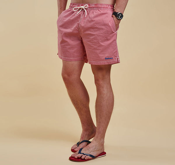 Barbour Striped Shorts - Red