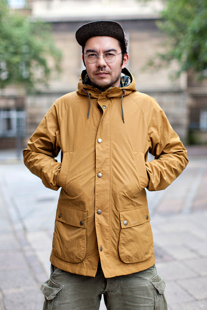 Barbour Hooded Bedale Jacket - Yellow