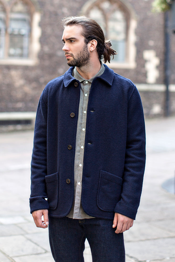 Barbour Ruthwell Cotton Overshirt Jacket - Navy