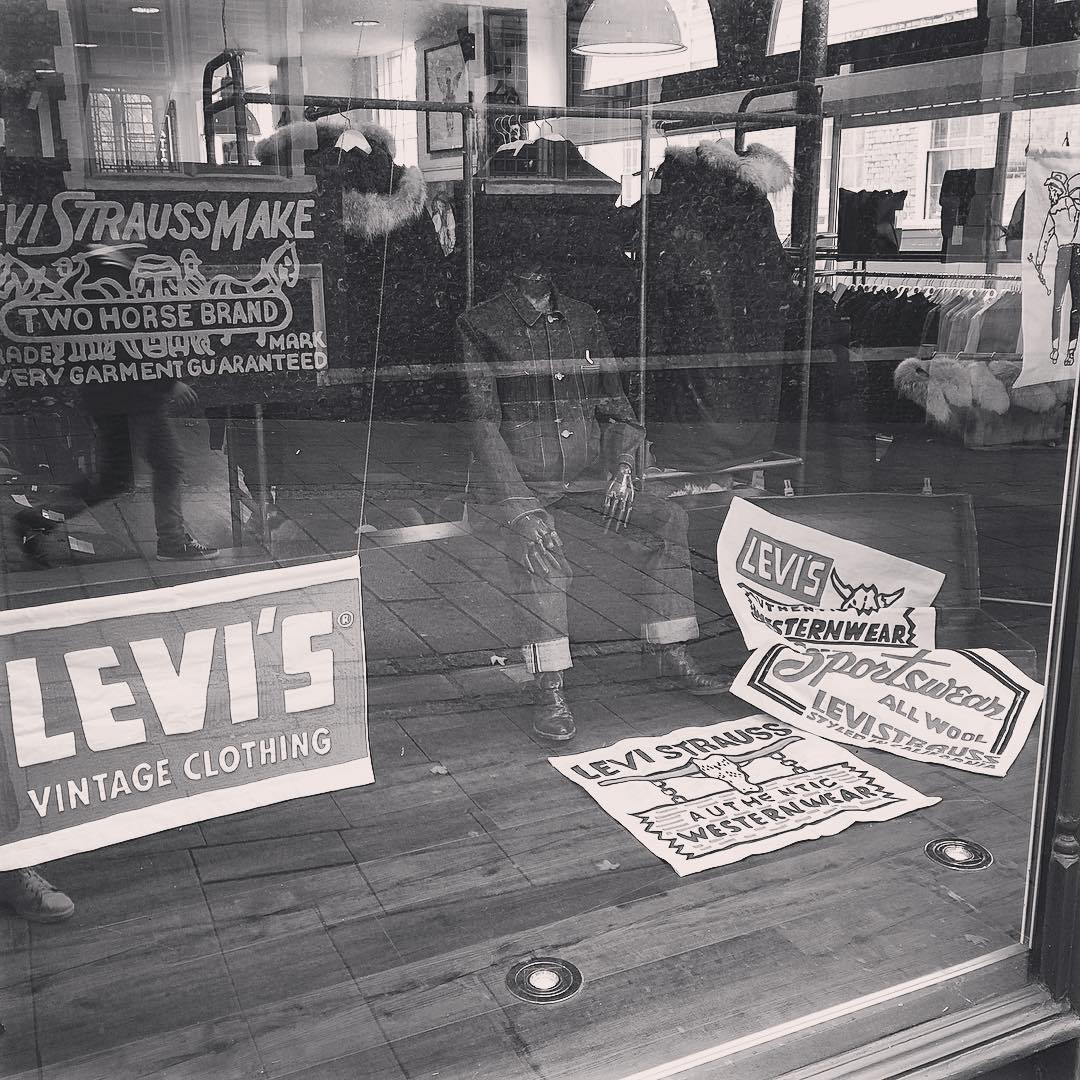 Levi's Vintage Clothing shop window