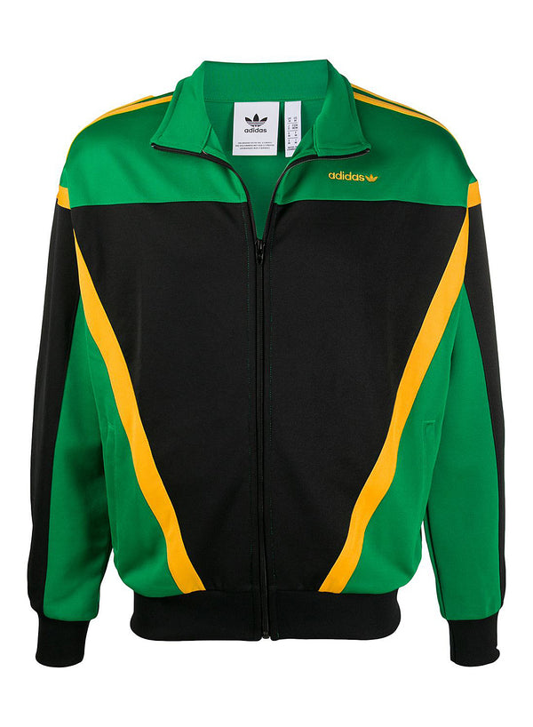 adidas originals clothing classic track top black green aw 2020