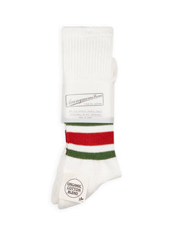 anonymous ism ankle stripe socks white green red ss 2020