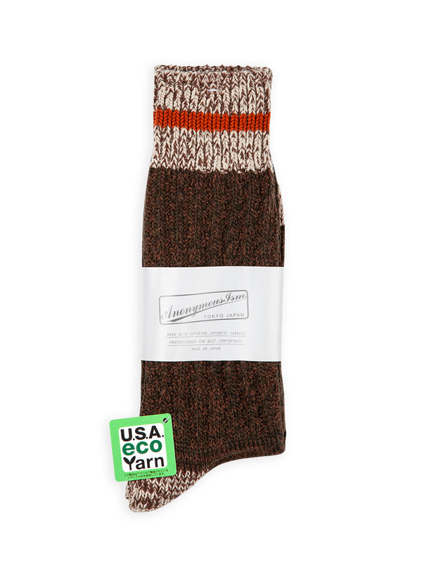 anonymous ism cotton wool mix stripe crew sock multi aw 2020