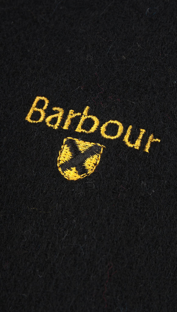 Barbour Plain Lambswool Scarf - Black