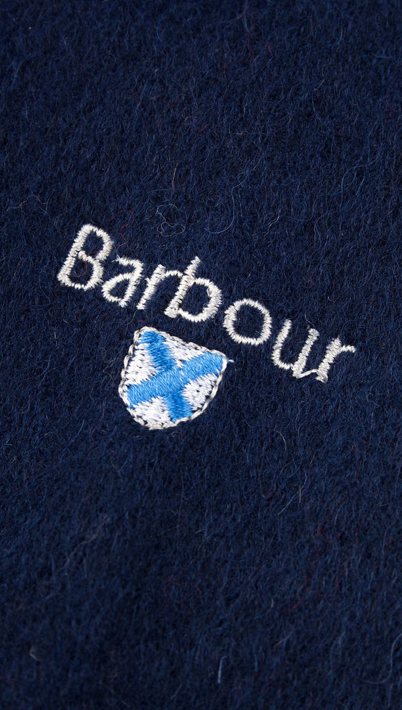 Barbour Plain Lambswool Scarf - Navy