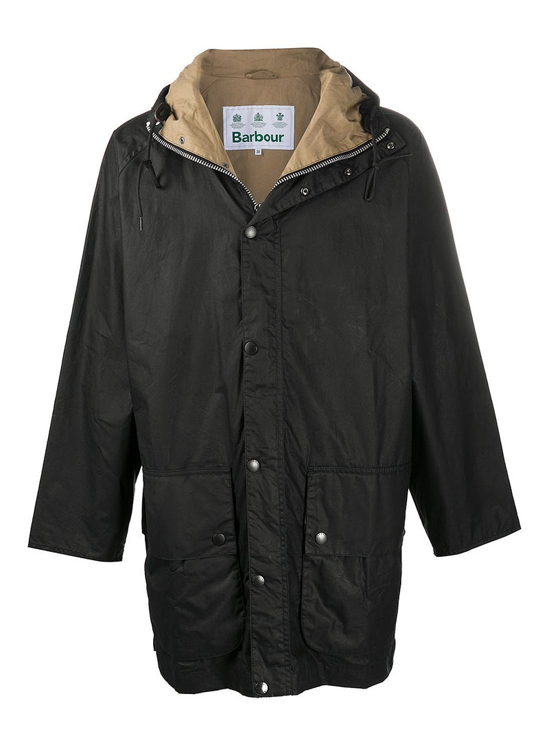 barbour hiking wax jacket black aw 2020