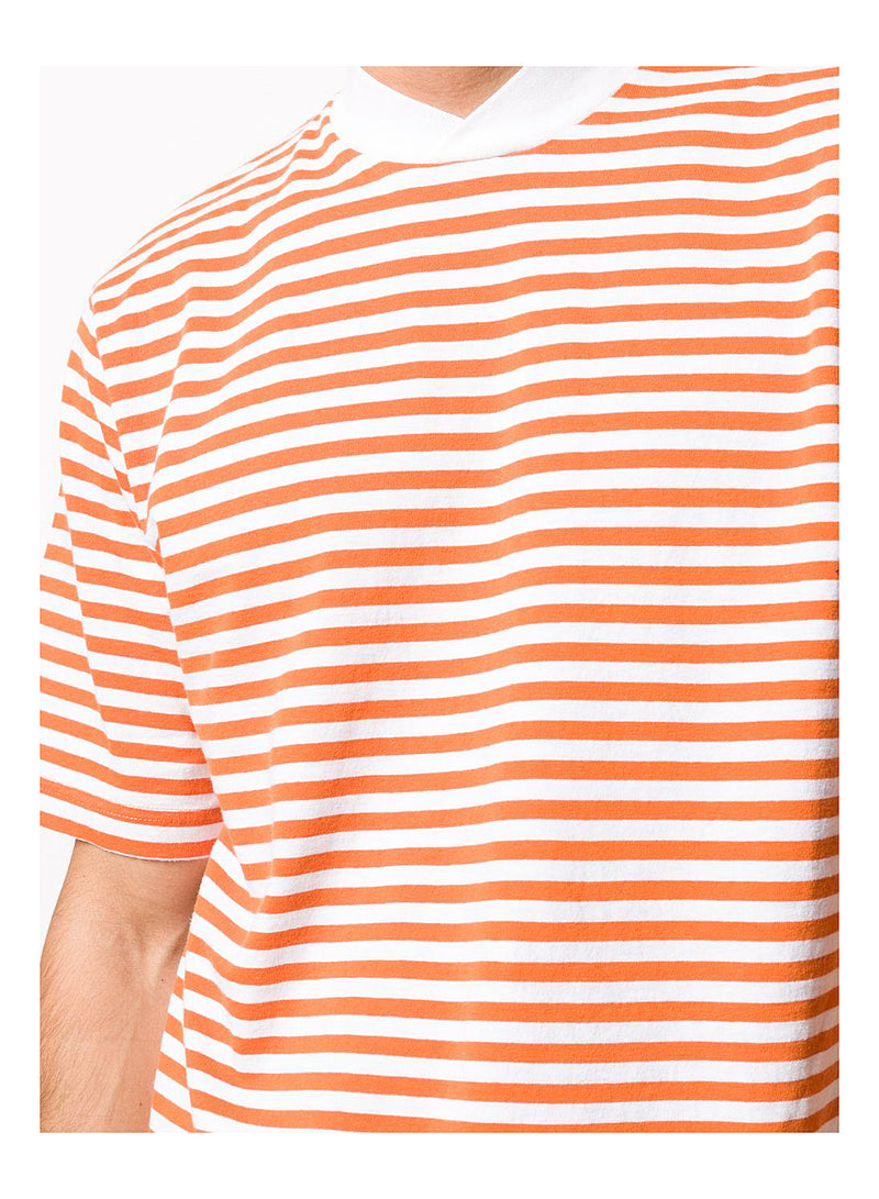 Inver Stripe Tee - Burnt Orange