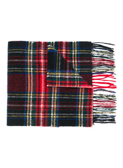 barbour new check scarf black stewart aw 2020