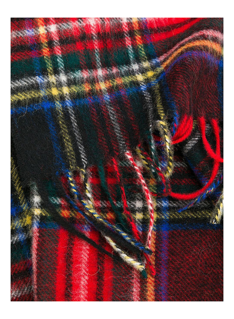 New Check Scarf - Black Stewart