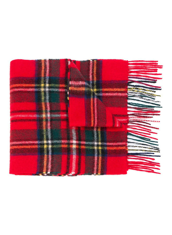 barbour new check scarf royal stewart aw 2020
